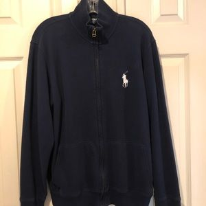 Full zip cotton Polo sweater